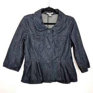 Ann Taylor Cute Denim Blazer Jacket